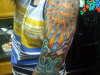 colorful half sleeve tattoo