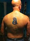 Gadsden snake tattoo