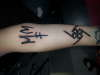 Marilyn Manson autograph tattoo