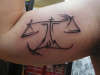 Scales of Justice tattoo