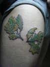 oak leaves tattoo