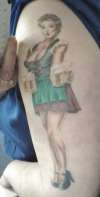 German Beer Maid Pinup tattoo