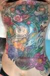 Full Back Koi and Frog Prince tattoo