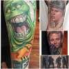 Ghostbusters sleeve tattoo