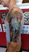 Half sleeve tattoo