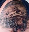 Bison Landscape tattoo