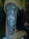tiger/woman tattoo