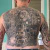 Iron Maiden back piece tattoo