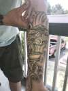 Old gnarly bonsai tree tattoo