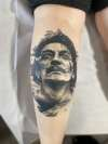 Salvador Dali Portrait by Josh Riley tattoo