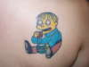 ralph wiggum from simpsons close up tattoo