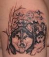 Siberian Husky - pup & adult tattoo