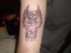 a gargoyle i did tattoo