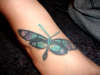 Dragonfly on Foot tattoo