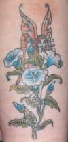 Morning glory fairy tattoo