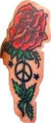 Peace Rose tattoo