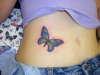 Butterflie on Stomach tattoo