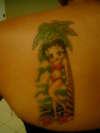 betty boop on the beach tattoo