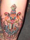 """""""Poison Free"""" Leg Piece tattoo"""