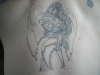 Warrior Angel back tattoo