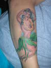 Hula Girl tattoo