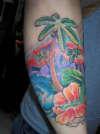 Palm Tree background tattoo
