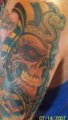 King Tut Skull tattoo