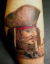 Jack Sparrow Portrait tattoo