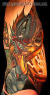 Necronomicon Clown tattoo
