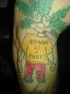 weed man tattoo