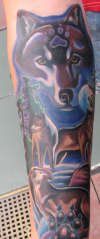 Wolf God tattoo
