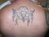 Dreamcatcher with longhorn skull tattoo