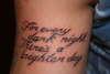 2Pac Quote tattoo