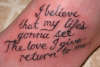 Ashley's Quote tattoo