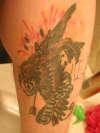 """""""unlucky"""" bird tattoo"""