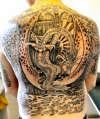 Backpiece - part 5 - Cerberus Guardian of Hell tattoo