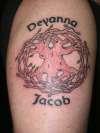 Celtic tree of life w/ kids names tattoo
