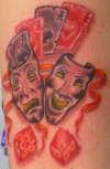 Comedy & Tragedy Masks tattoo