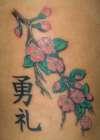 Cherry Blossoms Kanji tattoo