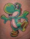 Nintendo Yoshi tattoo