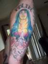 Mary with my kids names tattoo