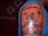 Treasure map tattoo