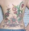 Full Back Flowers tattoo