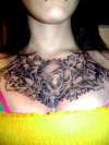 CHEST PIECE SHADED tattoo