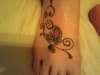 Butterfly and Swirls tattoo