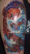 finished koi tattoo
