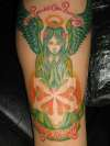 green angel tat done by st.angel78 tattoo