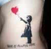 Banksy's Balloon Girl tattoo