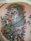 koi completed tattoo