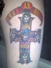 guns n roses - appetite for destruction (coloured in) tattoo